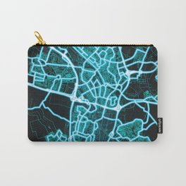 Utrecht, Netherlands, Blue, White, Neon, Glow, City, Map Carry-All Pouch