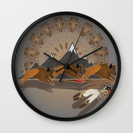 Native American Indian Buffalo Nation Wall Clock