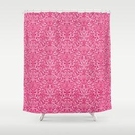 Art Nouveau Floral Damask, Deep Fuchsia Pink Shower Curtain