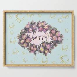 Happy flowers bridal pattern Serving Tray