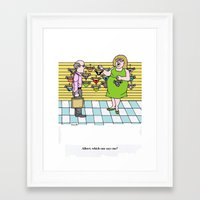 cartoon Framed Art Prints featuring Cartoon by Ray Buzzelli