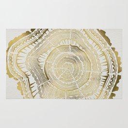 Gold Tree Rings Rug