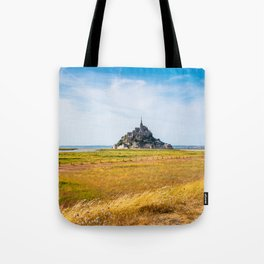 View of Mont Saint Michel against sky Tote Bag