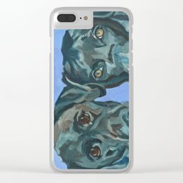 Emily and Annabel Dog Portrait Clear iPhone Case