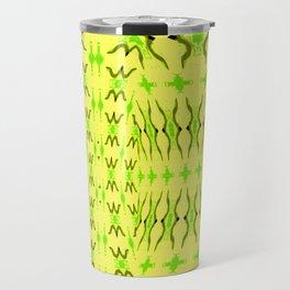 Sand dune pattern yellow Travel Mug