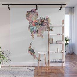 Thailand map Wall Mural