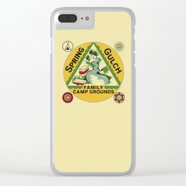 Vintage Retro Camping Spring Gulch Wanderlust Clear iPhone Case