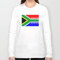 south africa Long Sleeve T-shirts featuring South Africa country flag name text by tony tudor