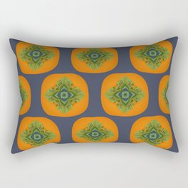 Persimmon Mandala Pattern Rectangular Pillow