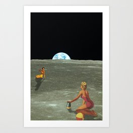 Stellar Sandcastles Art Print
