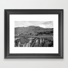 layers in Big Sur Framed Art Print