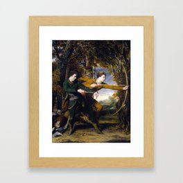 Joshua Reynolds - Colonel Acland and Lord Sydney, The Archers - 1769 Framed Art Print
