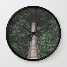 Lynn Valley IV (color) Wall Clock