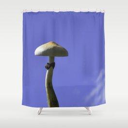 mushroom in the sky Shower Curtain
