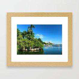 Key Biscane Bay Framed Art Print
