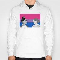 bisexual Hoodies featuring Bisexual Pride by Grace Teaney Art