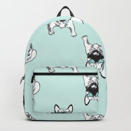 Soft turquoise mint Frenchies Backpack