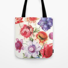 XI. Vintage Flowers Botanical Print by Pierre-Joseph Redouté - Anemones Tote Bag