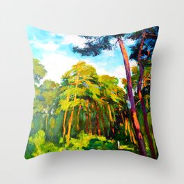Whisper of pines Throw Pillow