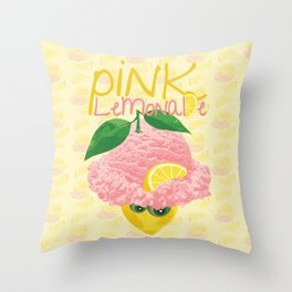 Pink Lemonade Ice Cream Throw Pillow