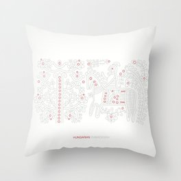 Hungarian Embroidery no.12 Throw Pillow