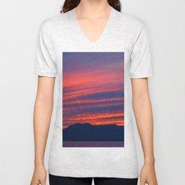 Baja sunset Unisex V-Neck