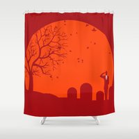 metal gear solid Shower Curtains featuring Solid by franz