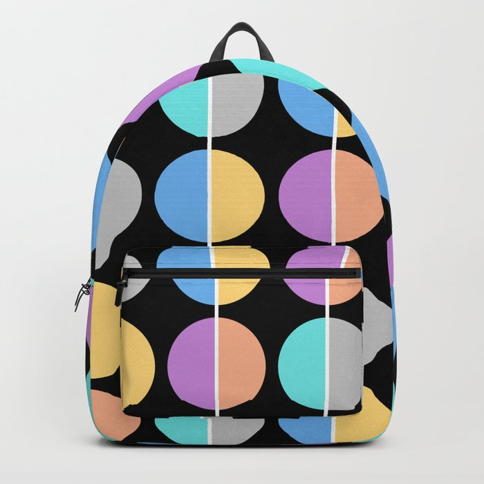 BACK TO THE 70's (abstract geometric pattern) Backpack