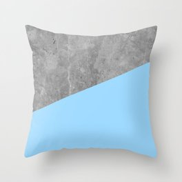 Geometry 101 Blue Raspberry Throw Pillow