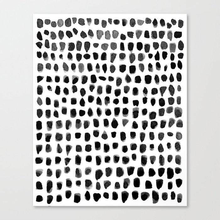 Dots (Black) Leinwanddruck