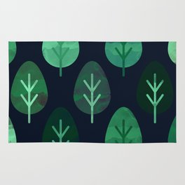 Watercolor Forest Pattern #9 Rug