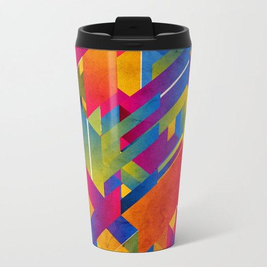 Geometric Play Metal Travel Mug