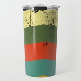 Grunge chevron Travel Mug