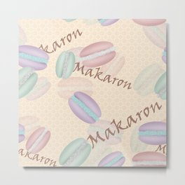 Sweet French pastries. Macaron. Metal Print