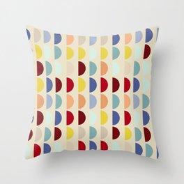 Semi circles multicolor geometric interior design Throw Pillow