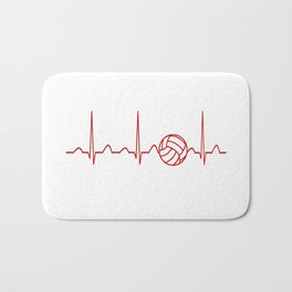VOLLEYBALL HEARTBEAT Bath Mat