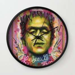 Le beauté Franc with Frame Wall Clock