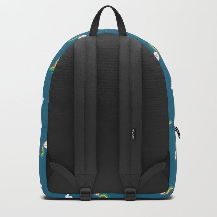 Fat Unicorn on Rainbow Jetpack Backpack