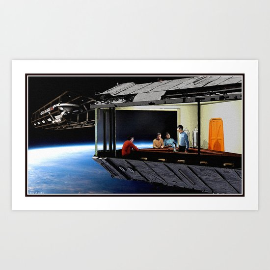 Original Series Inspired Nighthawks Art Print
