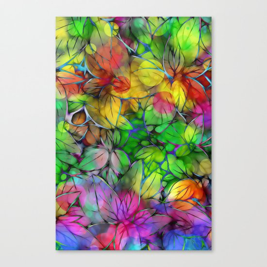 Dream Colored Leaves Canvas Print