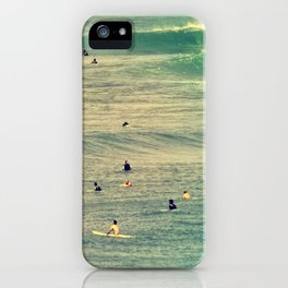 Maui Surfers Retro iPhone Case