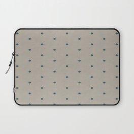 Teal Spots  Laptop Sleeve