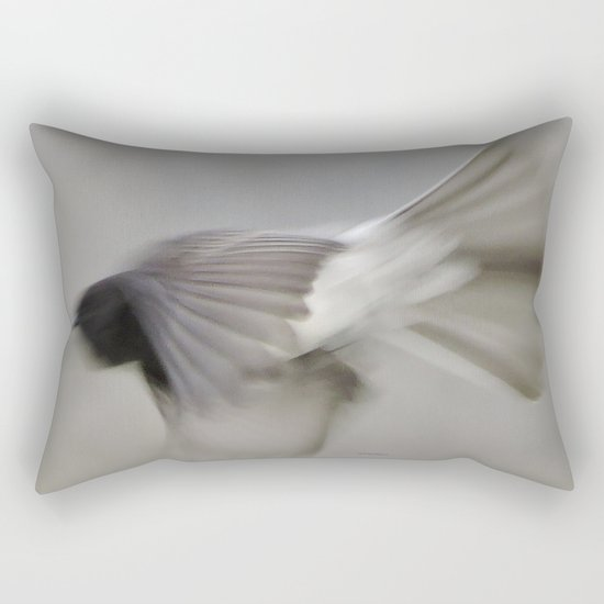 TEXTURES: Flycatcher on the Fly Rectangular Pillow