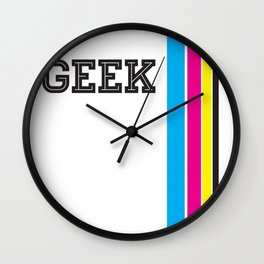 Design Geek (CMYK) Wall Clock