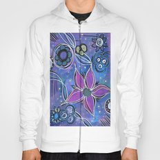 Purple Flowers Background Hoody