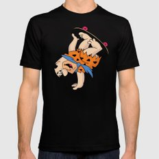 Shred Flintstone SMALL Mens Fitted Tee Black
