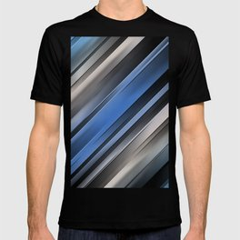 Abstract Blue Stripes T-shirt