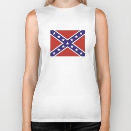 united states of america civil war flag Biker Tank