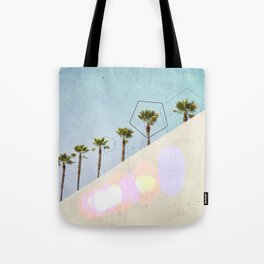 Levitated Mass (Blue) Tote Bag