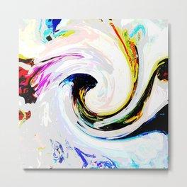 496 - Abstract Colour Design Metal Print